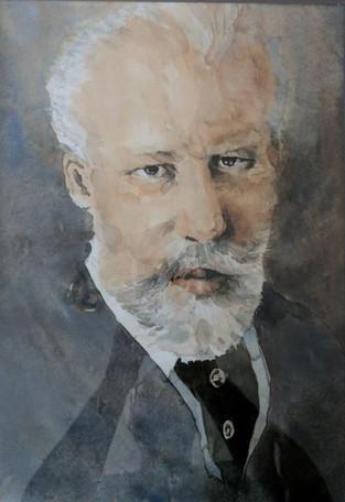 Tschaikowsky, ohne Datum, Aquarell