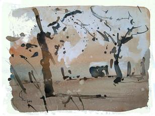 K-Bäume II, 2009, Aquarell