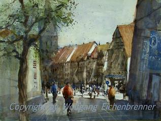 Innenstadt Hannover, 2013 45 x 32 cm Aquarell