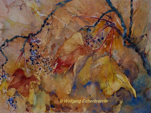 Herbstliches Stillleben, 2016 45 x 32 cm, Aquarell