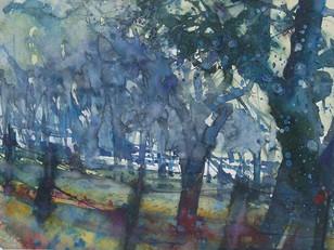 Im frühen Morgenlicht, 2006, Aquarell