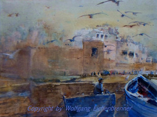 Essaouira, Marokko, 2012 45 x 32 cm Aquarell