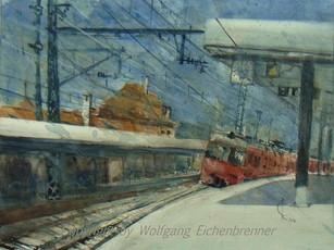 Bahnhof, Stuttgart-Feuerbach 2012 45 x 32 cm Aquarell