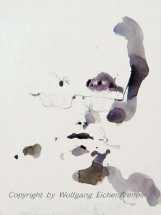 Männlicher Kopf, 2005, Aquarell