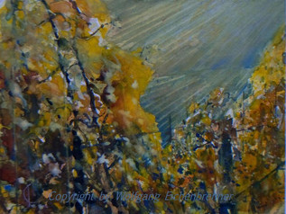Herbstlicher Weinberg, 2012 45 x 32 cm Aquarell