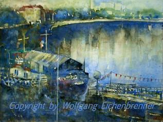 Am Neckar, Bad Cannstatt, 2011 45 x 32 cm Aquarell