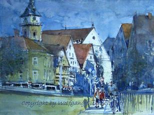 Altstadt Bad Cannstatt, 2011, 45 x 32 cm, Aquarell