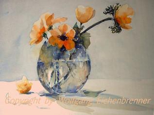 Anemonen I, 2007 45 x 32 cm Aquarell