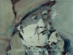 Miss Marple, 2012 38 x 28 cm Aquarell