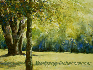 Im Rosensteinpark IV, Stuttgart, 2013 45 x 32 cm Aquarell