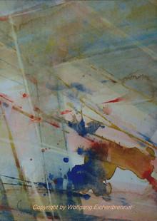 Ohne Titel, 2015, 32 x 45 cm, Aquarell