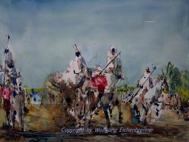 Reiterspiele, 2010 45 x 32 cm Aquarell