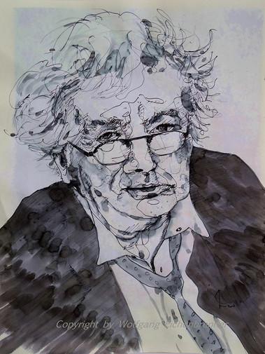 Horst Janssen 2014 54 x 45 cm Tusche-Feder, aquarelliert