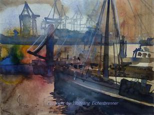 Hamburger Hafen II, 2007 45 x 32 cm Aquarell