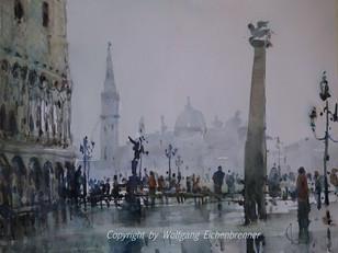 Piazetta San Marco, Venedig 2014 45 x 32 cm Aquarell