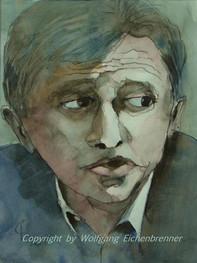 Kritisch, 2003 32 x 45 cm Aquarell