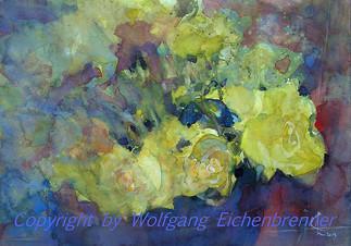 Gelbe Rosen, 2013 45 x 32 cm Aquarell