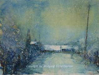 Winter, Weil der Stadt 2000 45 x 32 cm Aquarell