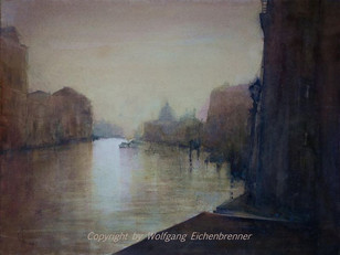 Letztes Licht am Canal Grande, Venedig