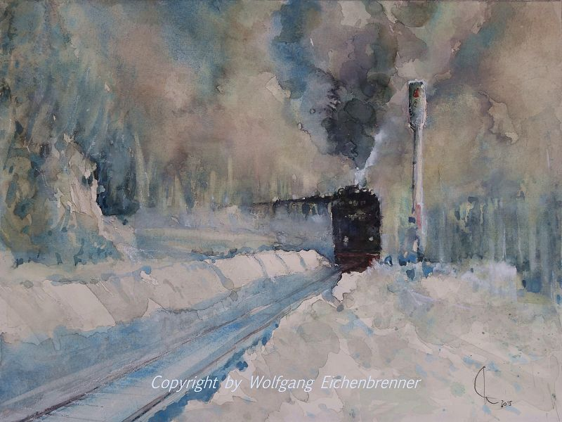 Eine Winterreise I 2014 45 x 32 cm Aquar