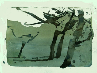 K-Bäume I, 2009, Aquarell