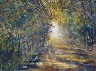 Weg zum Licht, 2013 45 x 32 cm Aquarell