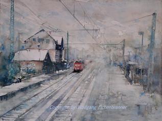 Eine Winterreise II 2014 45 x 32 cm Aquarell