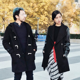 Throwback to the days where _arhcamt and I gazed into the future and saw nothing but black wardrobe😂