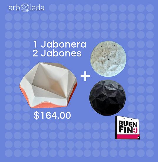 Jabonera+Shampoo+Jabón