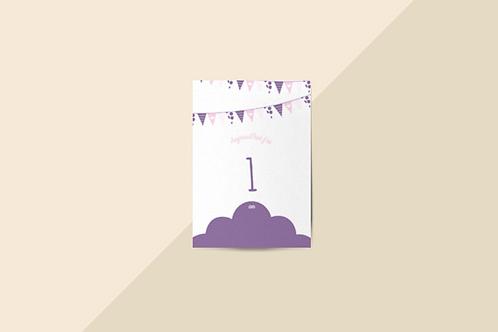 Kit 12 cartes étapes bébé collection Hello You Lila des Indes