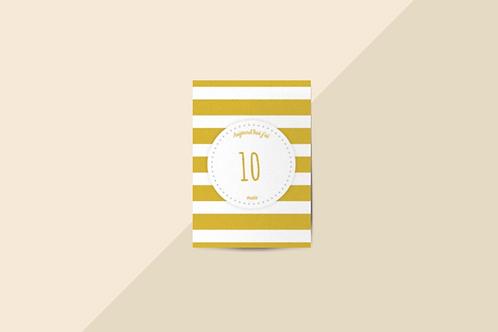Kit 12 cartes étapes bébé collection Hello You Jaune ocre