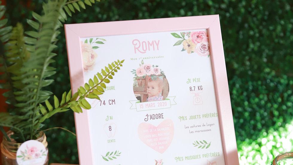 Affiche personnalisée - Pink Forest