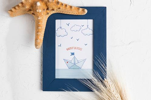 Affiche décoration à imprimer - Marin d'eau douce