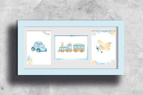 Affiches décoration à imprimer - Baby boy aquarell