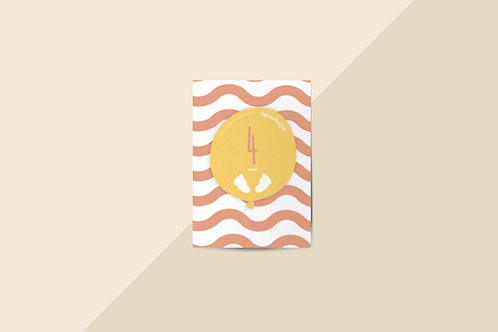 Kit 12 cartes étapes bébé collection Hello You Saumon sauvage