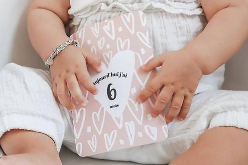Kit 12 cartes étapes bébé collection Sweet Love