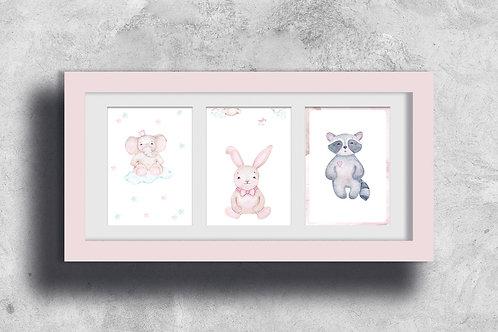 Affiches décoration à imprimer - Baby girl aquarell