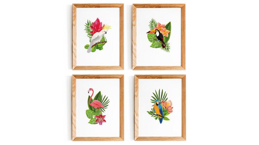 Affiches décoration à imprimer - tropical jungle