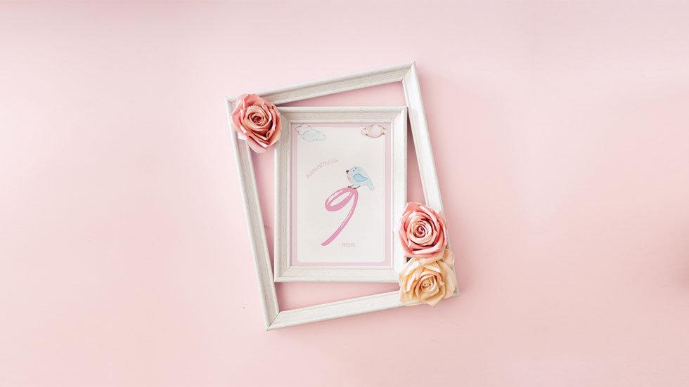 Kit 12 cartes étapes bébé collection Baby Girl aquarelle