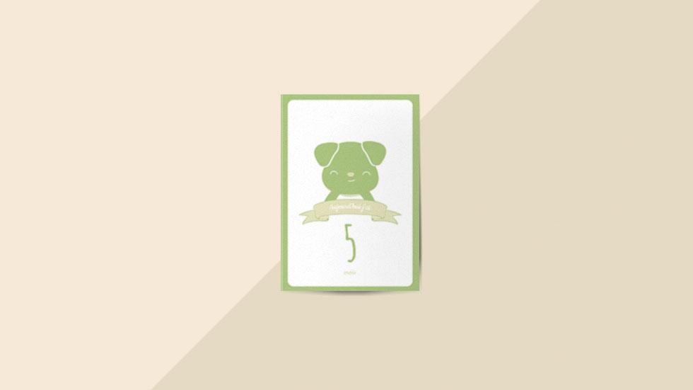 Kit 12 cartes étapes bébé collection Hello You Vert naturel
