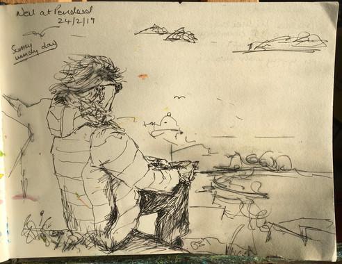Neil on the cliffs at Pendeen