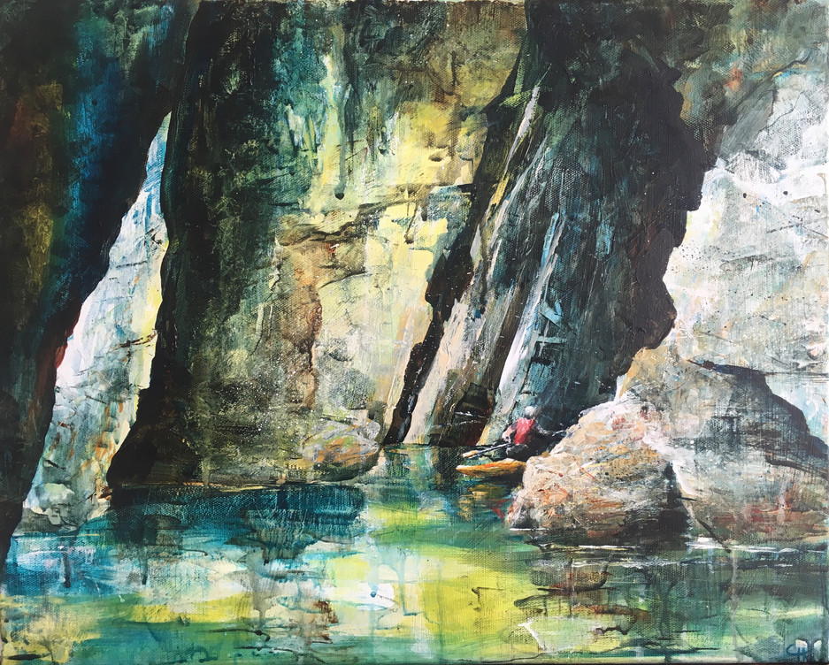 Canoeing Through Caves