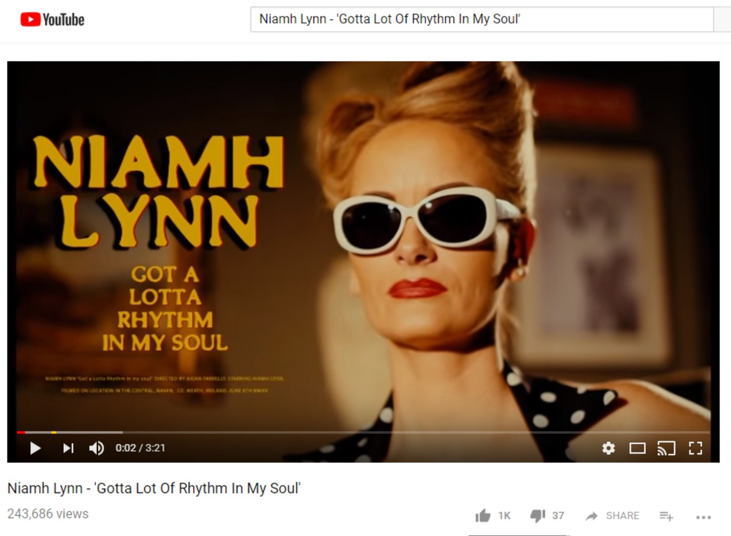Niamh Lynn - 'Gotta Lot Of Rhythm In My