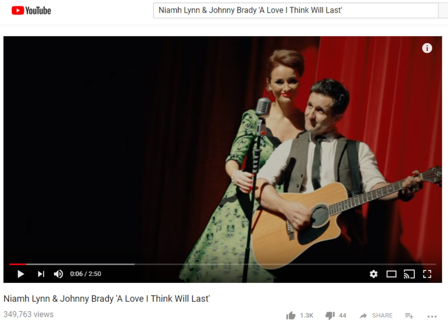 Niamh Lynn & Johnny Brady 'A Love I Thin