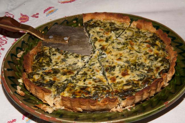 Spinach,Cream & Cheese Tart