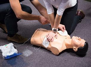 CPR training medical procedure workshop.