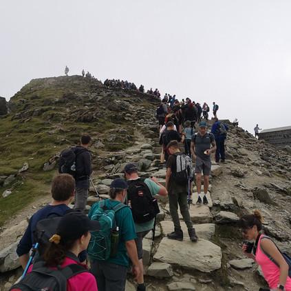 No hillwalkers on Snowdon...