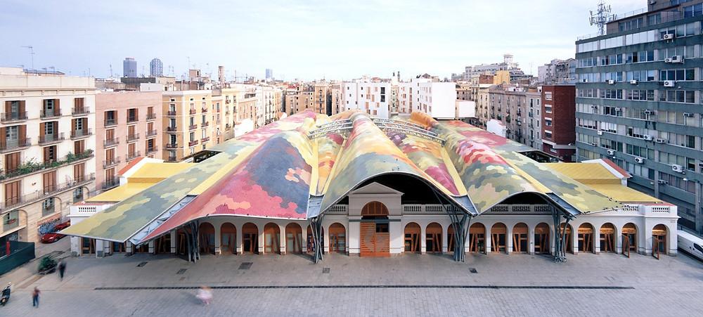 Barcelona based architecture firm, EMBT's renovation of the Santa Catarina Market