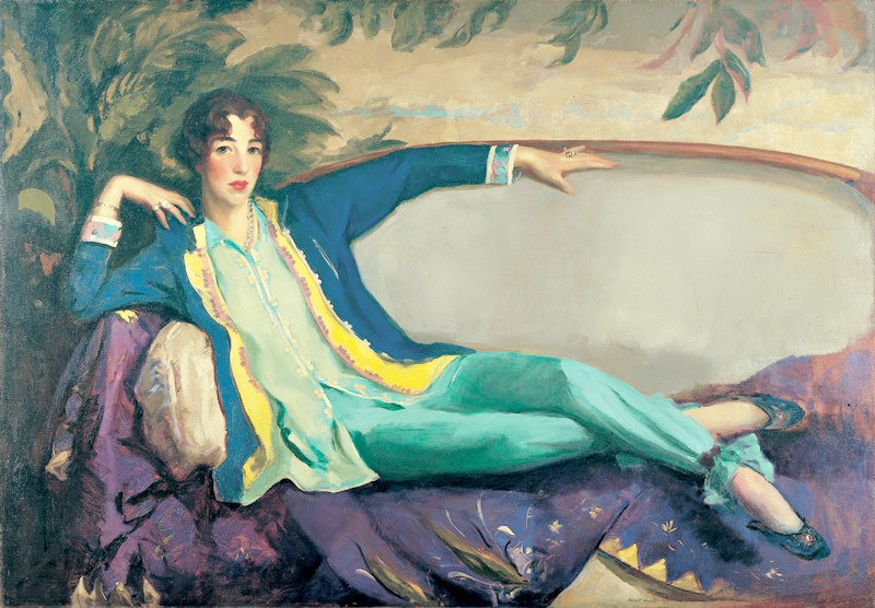Portrait by artist Robert Henri of art collector Gertrude Vanderbilt Whitney (c. 1916)