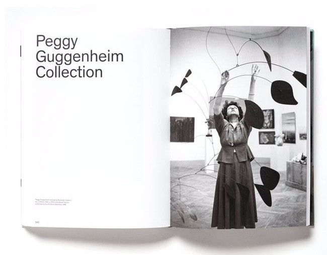 "A spread from the catalogue for the ""Visionaries: Creating a Modern Guggenheim"" exhibit."